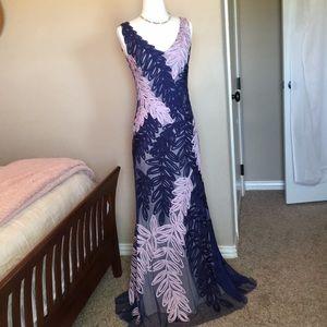 JS Collections formal dress, size 2, blue lavender